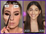 2016 Vs 2021 makeup challenge वीडियोज से जानें कि समय के साथ कैसे बदला मेकअप ट्रेन्ड