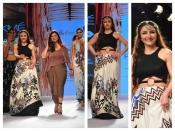 रैंप पर वाइल्ड फैशन को पेश करती हुई दिखीं सोहा अनी खान