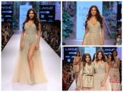 लैक्मे फैशन वीक में अर्पिता मेहता के लिये शो स्टॉपर बनीं ईशा गुप्ता