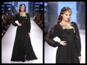 लक्मे फैशन वीक के रैंप पर एवलिन शर्मा बनीं ग्रीक गॉडेस