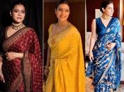 नवरात्रि फैशन स्पेशल: काजोल के इन एथनिक लुक को करें कैरी, सिंपल और डिफरेंट आउटफिट्स