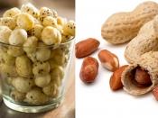 मूंगफली या मखाना: वजन घटाने के लिए क्या है हेल्दी ऑप्शन