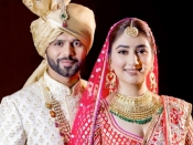 सामने आई राहुल और दिशा की शादी की तस्वीरें, देखिएं दोनों का वेडिंग लुक
