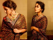 ब्लैक फ्लोरल साड़ी में हिना खान का दिखा बेहद खूबसूरत लुक, रक्षाबंधन के लिए है परफेक्ट चॉइस