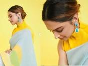 दीपिका पादुकोण ने सस्ती मल्टीकलर साड़ी पहन दिया लग्जीरियस ट्विस्ट, देखें खूबसूरत अंदाज