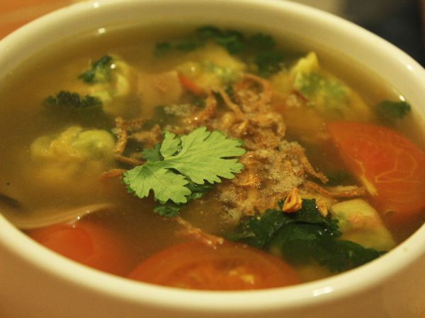 homemade chicken clear soup recipe