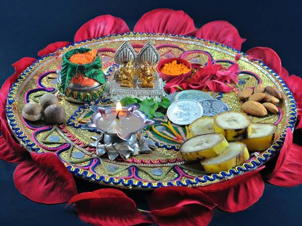 karva chauth thali decoration ideas