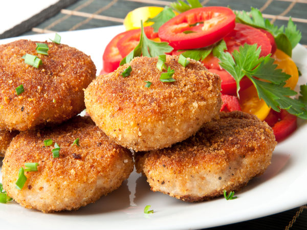 Sprouts and Vegetable Cutlet