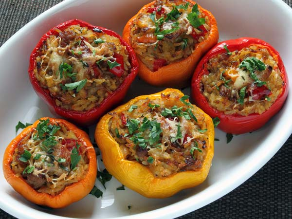 Prawn Stuffed Bell Peppers