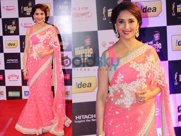 Madhuri Dixit Saree: Mirchi Music Awards
