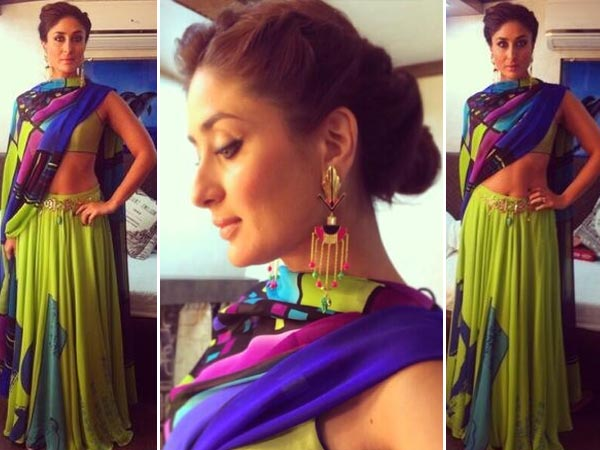 Kareena Kapoor Sizzles In Neon Lehenga For Gabbar