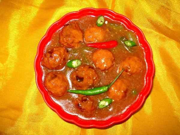 Vegetable Gravy Manchurian