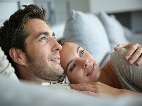 Couples sleeping less than an inch apart are happier!