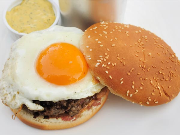 Boiled Eggs Burger For Breakfast