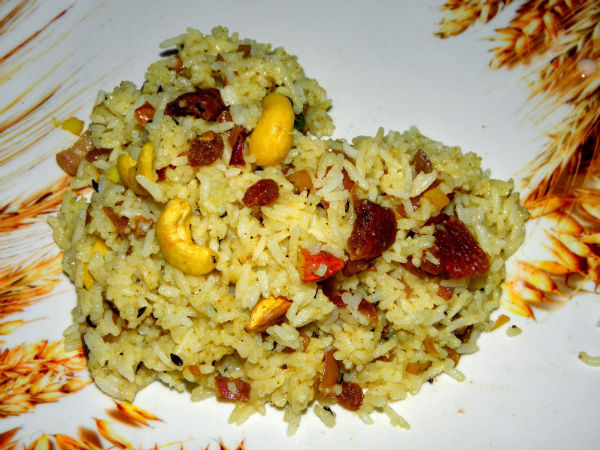 Dry Fruit Pulav For Your Kiddies