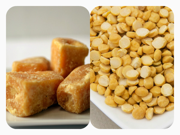 Eat Jaggery and chana once a week