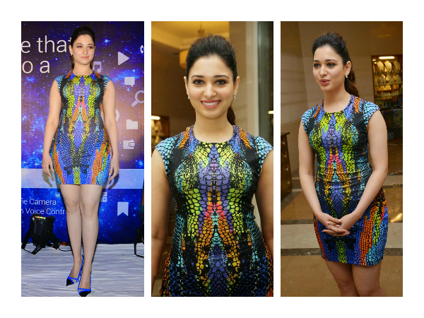 Tamannah Bhatia In Butterfly Print Bodycon