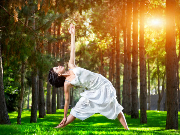 Trikonasana Or Triangle Pose For Weight Loss
