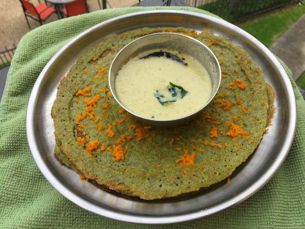 Pesarattu or Green Moong Dosa