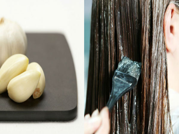 Hair Dye using Garlic