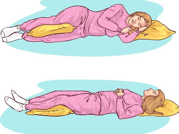 Image result for बाएं ओर सोने