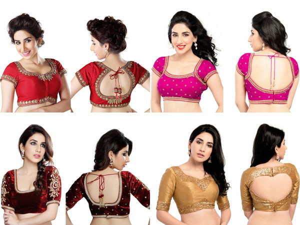 Bollywood inspired saree blouses for this fall winter for Dijain photo