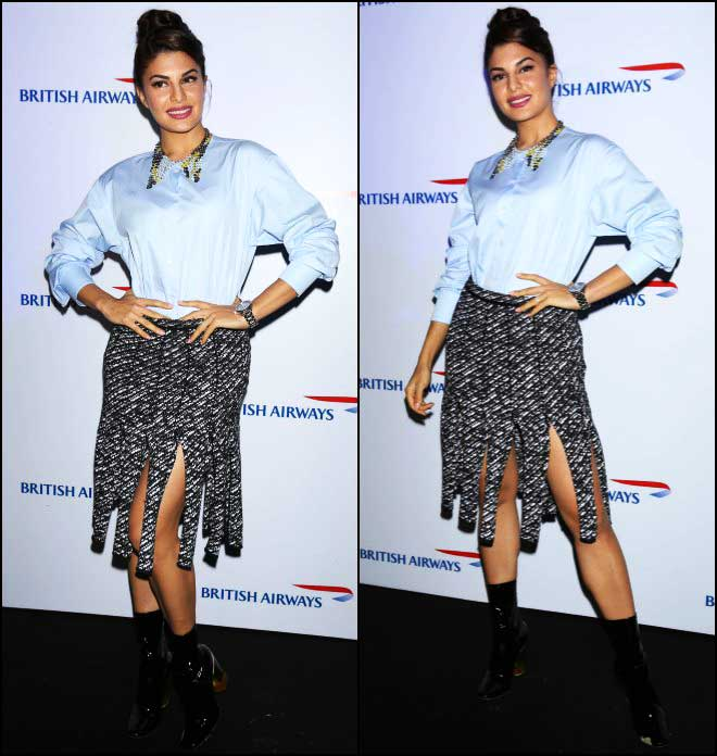 Jacqueline Fernandez Dazzles In Dior Separates At The British Airways Event