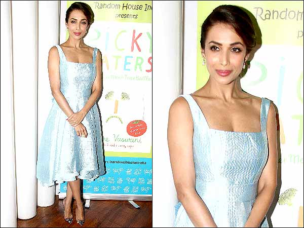 Malaika's turquoise dress