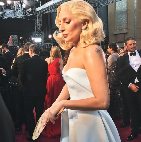 Oscars 2016: Lady Gaga Shines In White
