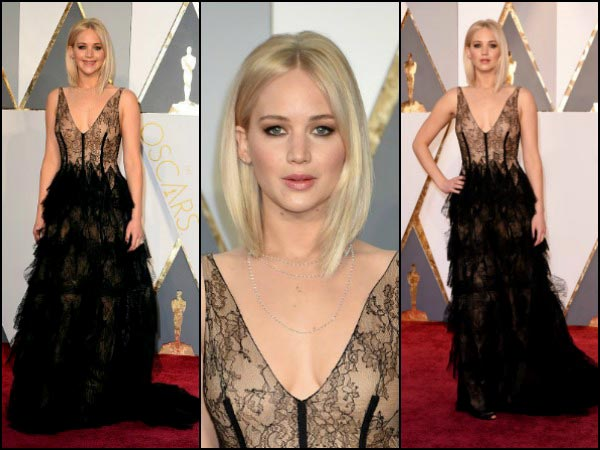 Jennifer Lawrence Steals the Show In A Dior Gown For Oscars