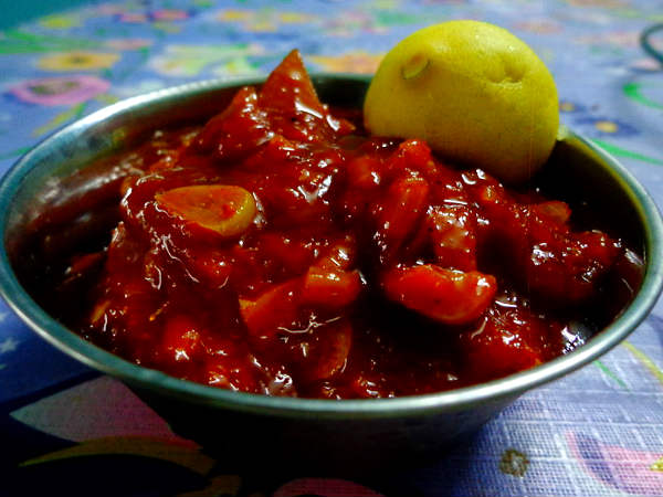 Sweet and sour Lemon Pickle