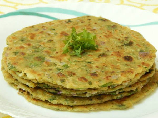 Spicy Rice Parathas