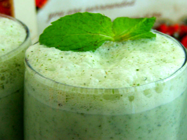 Salted Mint Lassi Recipe