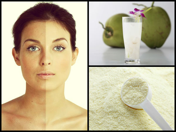 DIY Milk Powder And Coconut Water Face Mask For Skin Pigmentation