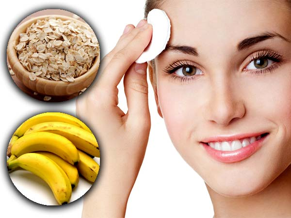 Banana And Oatmeal Face Scrub