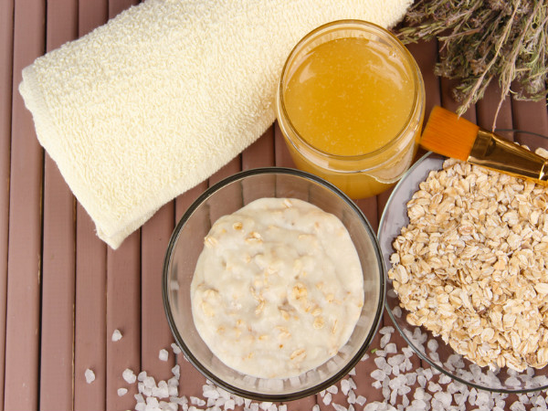 oats face scrub