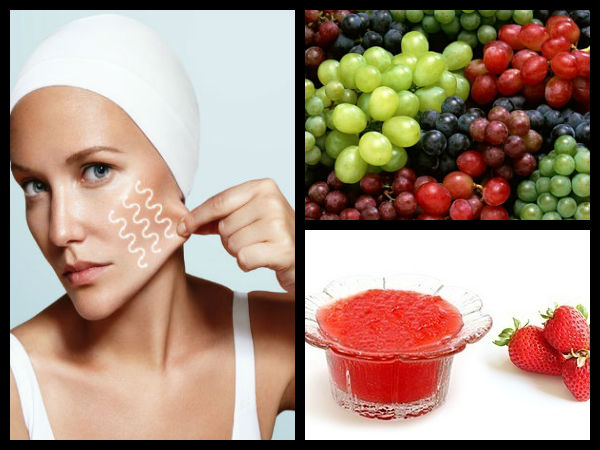 Strawberry And Grape Face Pack For Sagging Skin