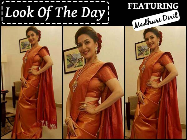 Look Of The Day: Madhuri Dixit In Her Desi Look Is All You Need To See Today
