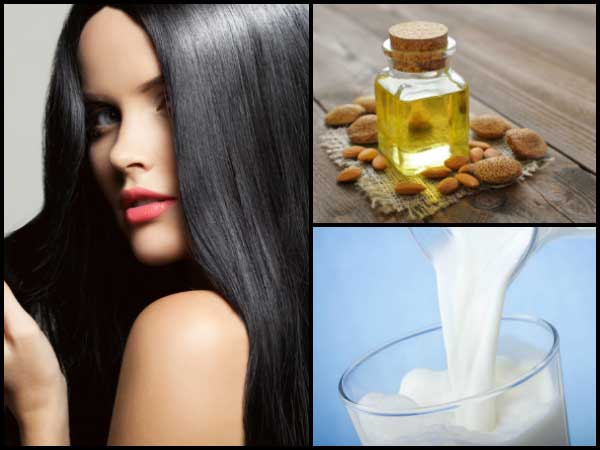 Apply Almond Oil & Milk On Your Hair, Watch What Happens!