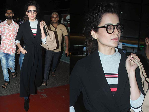 Spotted: Kangana Ranaut In A Hipster Travel Look At The Airport Today