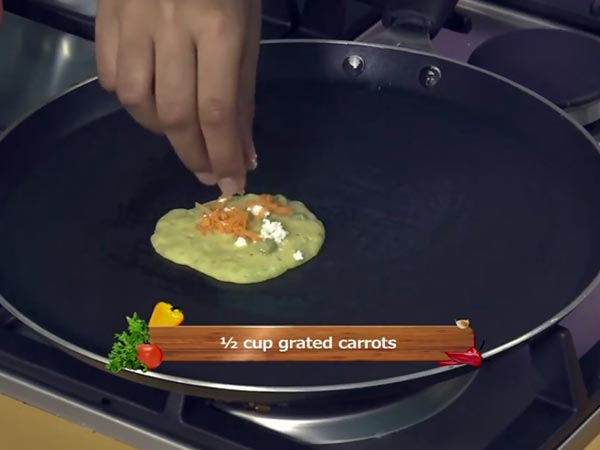 how to prepare green peas pancake