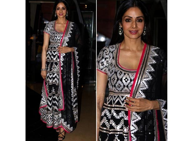 look of the day, sridevi in abu jani sandeep khosla