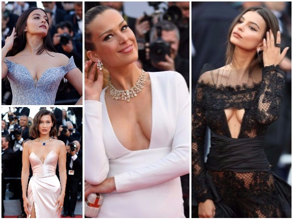 Cannes 2017: Deep Neck Dresses at Red Carpet