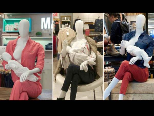 इस मॉल ने लगाई है ब्रेस्टफीडिंग वाली मैनीक्वींस ताकि पब्लिक में स्तनपान से नहीं शर्माएं महिलाएं