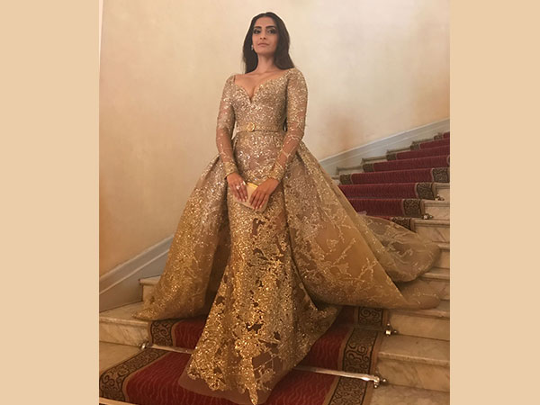 Rocking In Gold; Sonam Be The Cannes Princess