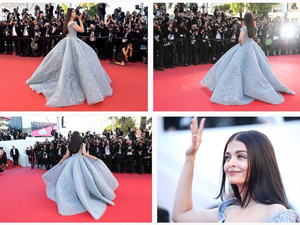 Aishwarya In Her Goddess Avatar Walks The Cannes Red Carpet