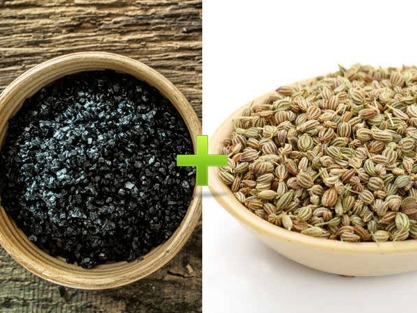 How to cure stomach acidity with carom seeds and black salt