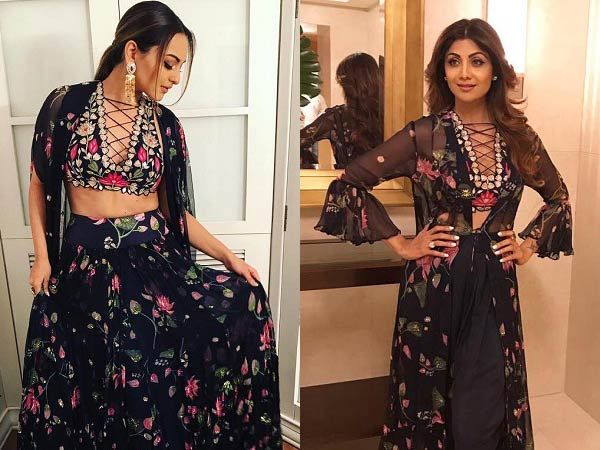 Sonakshi Sinha or Shilpa Shetty in arpita mehta's Dress
