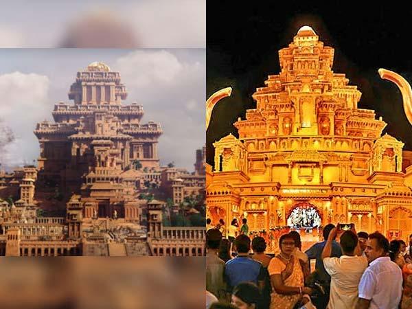 """कोलकाता में बना """"बाहुबली"""" के """"माहिष्मति महल"""" के थीम पर, देश का सबसे महंगा पंडाल"""