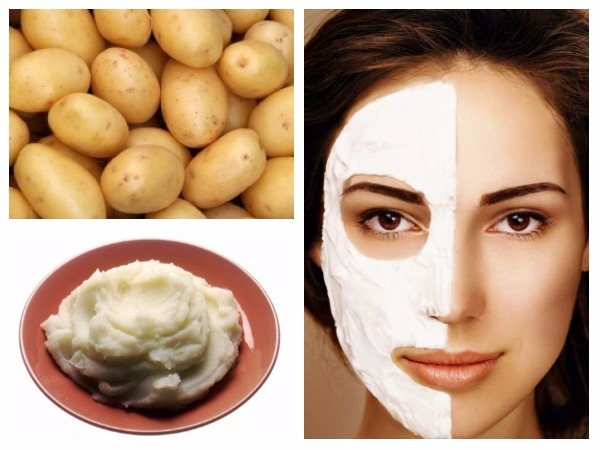 Homemade beauty tips with potato juice